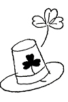 Irish Hat coloring page