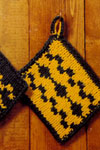 reversible knitted pot holder