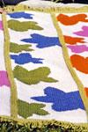 Knit Afghan Patterns Purple Kitty