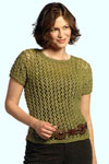 knit lacy short sleeve top pattern