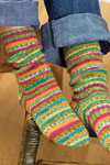 self-striping knit socks