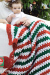 holiday stripes throw