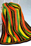 crocheted stripe afghan