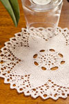 knit flower doily