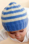 stripe knit baby cap