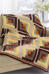 autumn log cabin throw