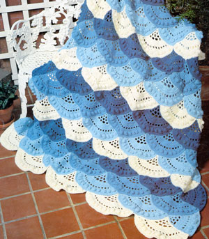 Striped Star Afghan - Christmas Crafts, Free Knitting Patterns