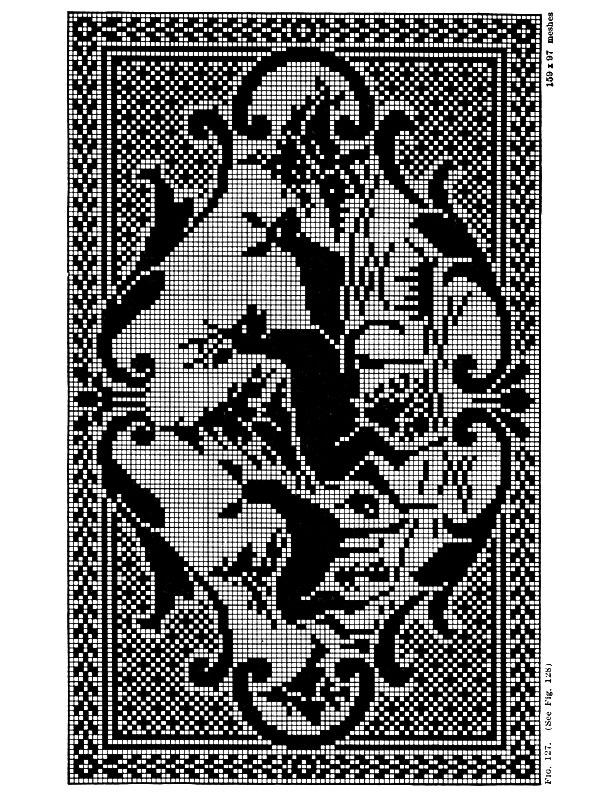 Filet Crochet Deer Pattern | Purple Kitty