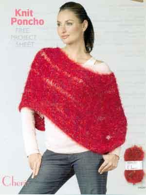 Knit Poncho Lm0201 Purple Kitty