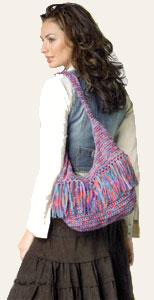 Free Vest Patterns And Crochet And Yarn Purple Kitty : Crochet Hobo Bag LM0203 Purple Kitty