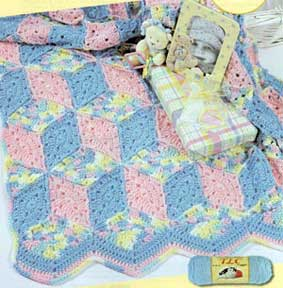 Tumbling Blocks Crochet Afghan Pattern Free : CROCHET AFGHAN PATTERN FOR MULTI-COLOR YARN ? CROCHET PATTERNS