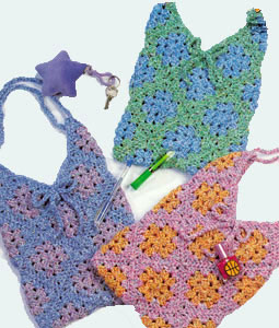 Free Vest Patterns And Crochet And Yarn Purple Kitty : Granny Bags LW1350 Purple Kitty