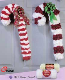 Candy Canes Wreath Lw1366 Purple Kitty
