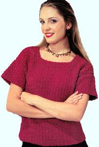 Free Vest Patterns And Crochet And Yarn Purple Kitty : Tee Top Crocheted Womens Fashion Sweater LW1387 Purple ...