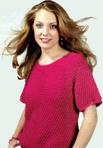 Free Vest Patterns And Crochet And Yarn Purple Kitty : Textured Top Crocheted Womens Fashion Sweater LW1404 ...