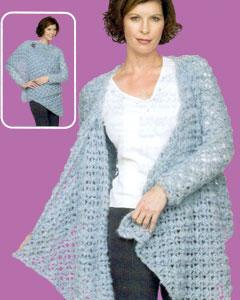 Free Vest Patterns And Crochet And Yarn Purple Kitty : Crochet Lace Wrap Top LW1495 Purple Kitty