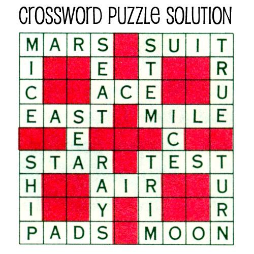 Space Kids Printable Crossword Puzzle Purple Kitty