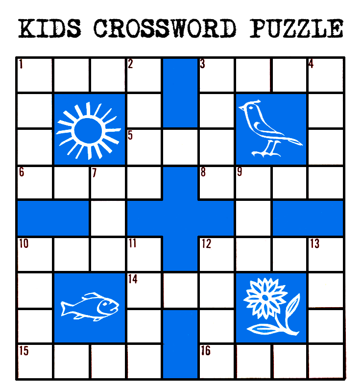 Kids Printable Crossword Puzzle