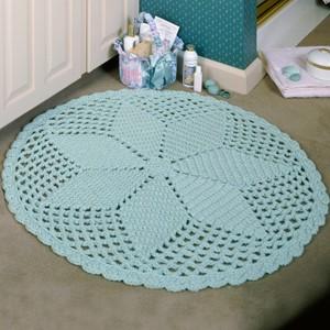 Round Diamond Lace Rug Crochet Pattern