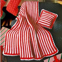 Candy cane crochet blanket pattern crochet patterns only