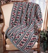 Openwork Mile A Minute Crochet Afghan Pattern Purple Kitty