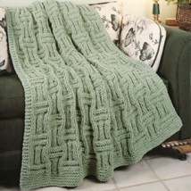 Quick Knit Basketweave Afghan Knit Pattern