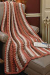long double stripes afghan