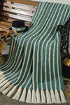 lucky striped afghan