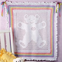 Free Teddy Bear Filet Crochet Afghan Pattern : FREE ONLINE CROCHET PATTERNS TEDDY BEAR AFGHAN ? Easy ...