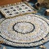 round and rectangle bag rug crochet patterns