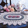 Rose Ring Doily Thread Crochet Pattern