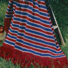 colonial stripe afghan