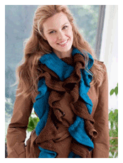 Double Your Ruffles Crochet Scarf