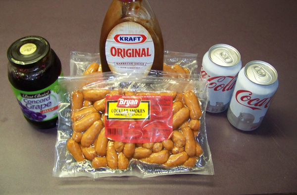 Hot Dog Appetizer With Grape Jelly
