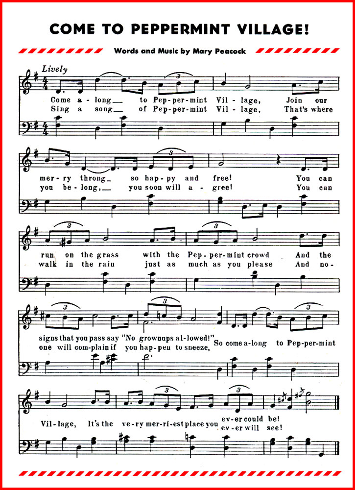 Lyric rain song lyrics : Come to Peppermint Village Song Lyrics & Sheet Music | Purple Kitty