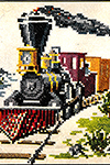 Locomotive Cross Stitch Pattern