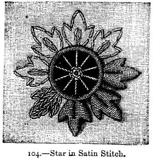Star in Satin Stitch.