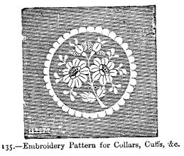 Embroidery Pattern for Collars, Cuffs, &c.