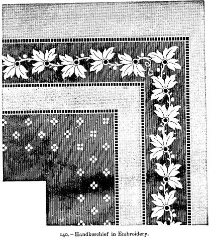 Handkerchief in Embroidery.