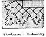 Corner in Embroidery.