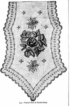 Cravat End in Embroidery