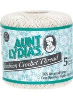 Aunt Lydias Fashion Crochet Thread Size 5 Purple Kitty