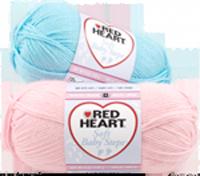 Red Heart Soft Baby Steps Yarn Purple Kitty